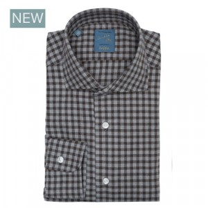 Barba Napoli Shirt Flannel Grey-Brown Check
