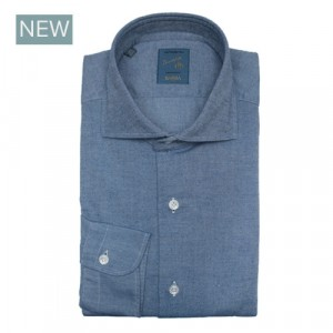Barba Napoli Shirt Flannel Blue