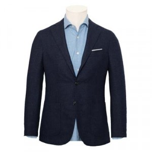Barba Napoli Jacket Bouclé Blue