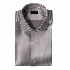 Barba Napoli Shirt Oxford Stripe Brown-White