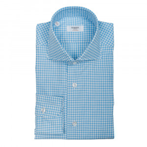 Barba Napoli Shirt Check Blue