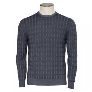 Barba Napoli Crewneck Cable Wool Grey