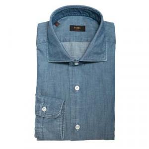 Barba Napoli Denim Shirt Blue