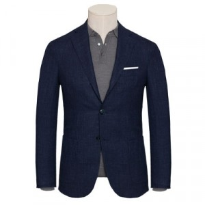 Barba Napoli Blazer Jacket Blue LONG