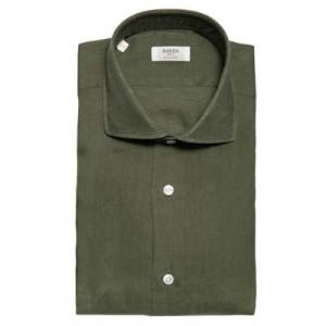 Barba Napoli Linen Shirt Olive Green