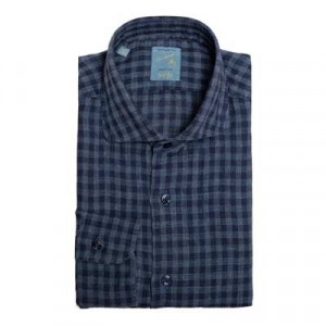 Barba Napoli Blue Buffalo Check Shirt