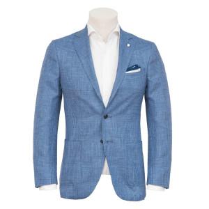 Luigi Bianchi Mantova Jacket Check Blue