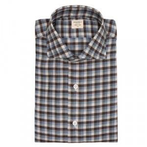 Mazzarelli Shirt Check Brown