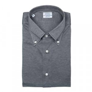 Mazzarelli Shirt Jersey Pique Grey