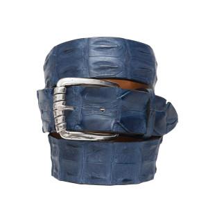 Andrea d'Amico Croco Belt Blue