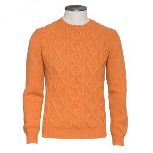 Della Ciana Cable Crewneck Orange