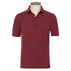 Drumohr Polo Garment Dyed Burgundy