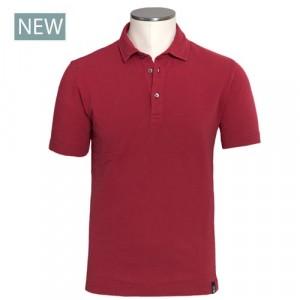 Drumohr Polo Garment Dyed Piquet Red