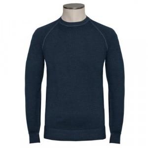 Drumohr Crewneck Wool 140'S Blue
