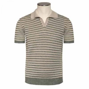 Drumohr Polo Striped Green