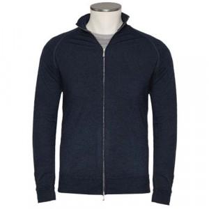 Drumohr Cardigan Wool 140'S Navy