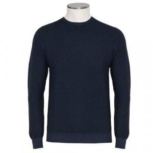 Drumohr Crewneck Wool 140S Blue