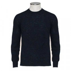 Drumohr Crewneck Donegal Dark Blue
