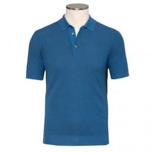 Drumohr Polo Fantasy Weave Blue