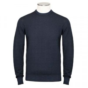 Drumohr Crewneck Merino Blue Denim