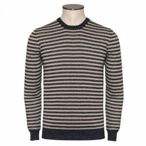 Drumohr Pullover Striped Blue