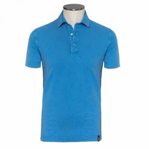 Drumohr Polo Garment Dyed Sky Blue