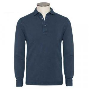Drumohr Polo Garment Dyed Navy