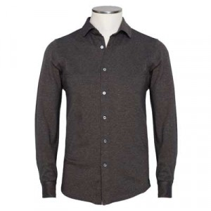 Drumohr Shirt Jersey Donegal Brown