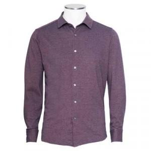 Drumohr Shirt Jersey Donegal Burgundy