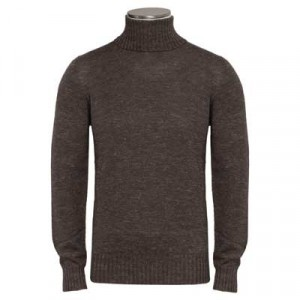 Drumohr Roll-neck Pullover Brown Mélange