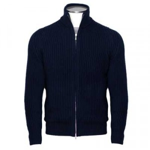 "Drumohr Cardigan ""English Rib"" Blue"