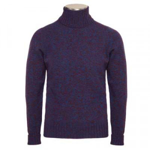 Drumohr Roll Neck Blue Melange