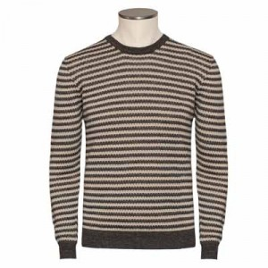 Drumohr Crewneck Striped Brown