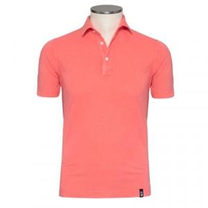 Drumohr Polo Garment Dyed Pink