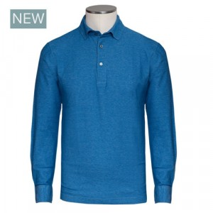 Drumohr Polo Jersey Cotton Blue