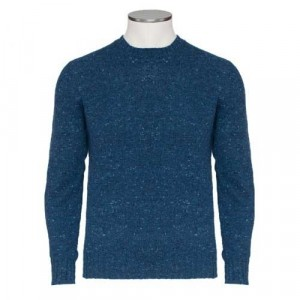 Drumohr Crewneck Donegal Denim Blue