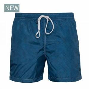 Fedeli Swim Trunk Dots Steel-Blue