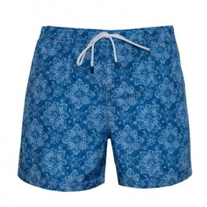 Fedeli Swim Trunk Vintage Flower Blue
