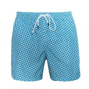 Fedeli Swim Trunk Escher Blue