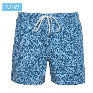 Fedeli Swim Trunk Waves Blue