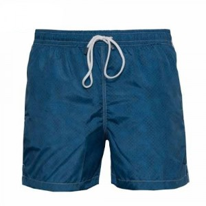 Fedeli Swim Trunk Dots Steel-Blue