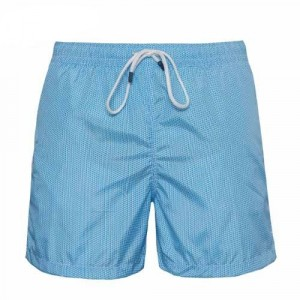 Fedeli Swim Trunk Waves Light-Blue
