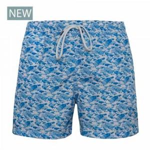 Fedeli Swim Trunk Whales Blue
