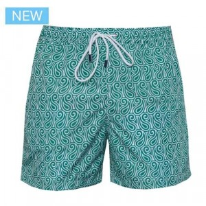 Fedeli Swim Trunk Waves Green