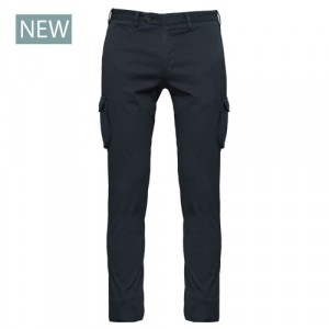 "Germano Cargo Trousers Cotton ""Cannettè"" Blue"