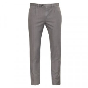 Germano Herringbone Trousers Taupe