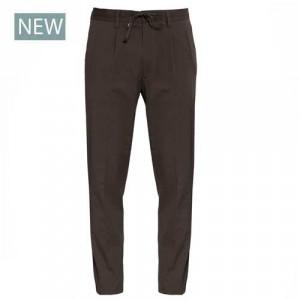 Germano Drawstring Trousers Seersucker Brown