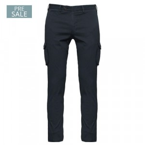 """Germano Cargo Trousers Cotton """"Cannettè"""" Blue"""