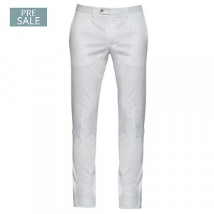 """Germano Trousers Cotton """"Cannettè"""" White"""