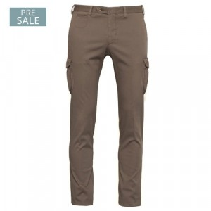 """Germano Cargo Trousers Cotton """"Cannettè"""" Taupe"""
